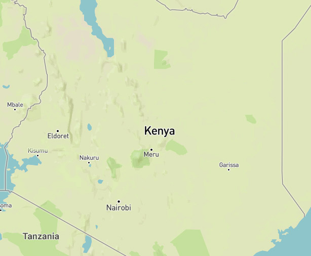 Map showing where Kenya is located